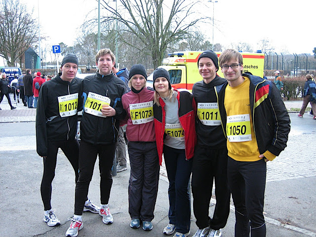 Silvesterlauf 2006 (Marek: 1.v.l.; Henrik: 2.v.r.)